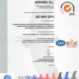 ISO 9001 Hervian SL