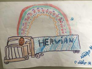 Dibujo de Santos Merino, ganador del concurso lanzado por Hervian.